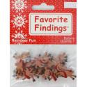 Веселые олени, пуговицы 20-25мм 8шт., Favorite Findings