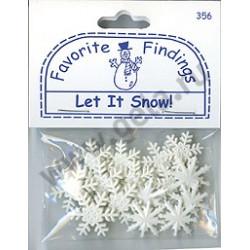 LET IT SNOW!, пуговицы 22мм 14шт., Favorite Findings