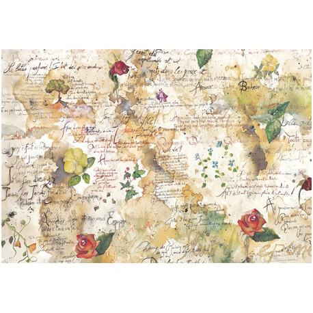 Цветы и поэзия, бумага рисовая для декупажа 48х33см 28г/м? Stamperia