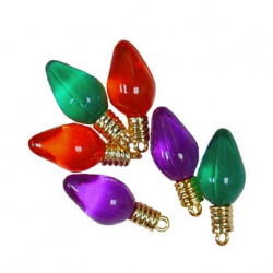 Разноцветные лампочки, пуговицы 12-30мм 6шт., Favorite Findings