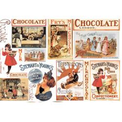 Шоколад карты, бумага рисовая для декупажа 48х33см 28г/м? Stamperia