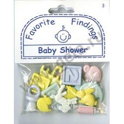 BABY SHOWER, пуговицы 22мм 13шт., Favorite Findings