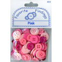"PINK, ""Рубашечный микс"", пуговицы 12-15мм 130шт., Favorite Findings"