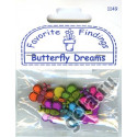 BUTTERFLY DREAMS, пуговицы 16-15мм 6шт., Favorite Findings