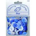 "BLUE, ""Рубашечный микс"", пуговицы 12-15мм 130шт., Favorite Findings"