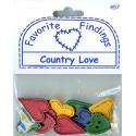 COUNTRY LOVE, пуговицы 7-25мм 11шт., Favorite Findings