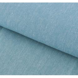 Бирюзовый, ткань для пэчворка мягкая джинса 47х50см SL