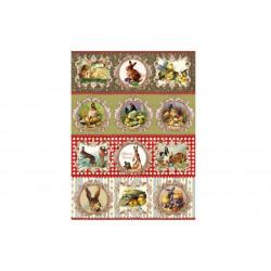 Пасхальный кролик, бумага рисовая для декупажа, 20х28см, 25 г/м2
