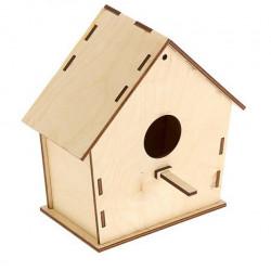 Скворечник для птиц, заготовка для декорирования фанера 18х9х15см SL