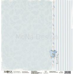 Милый мальчик из коллекции Мой мальчик, лист односторонней бумаги 30х30см, 190гр/м MoNa design