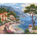 Южный берег, набор для вышивания крестиком, 32х25см, 33цвета Алиса