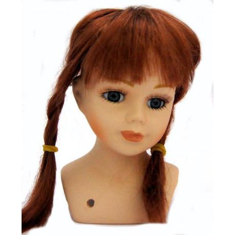 Парик косички для кукол, цвет Медный
