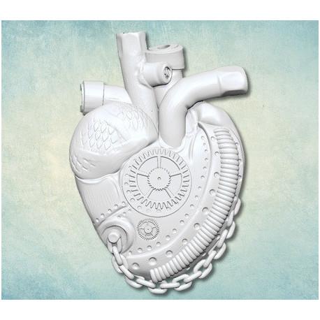 Сердце Стим-Панк (S) 3,5х5см, молд силиконовый универсальный АП