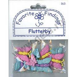 FLUTTERBY, пуговицы 7-28мм 12шт., Favorite Findings