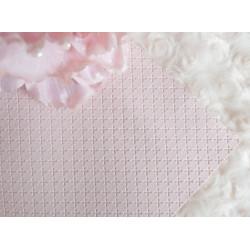Нежно-розовый крестик, кожа искусственная 33х69(±1см) плотность 440 г/кв.м.