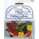 FALLING LEAVES, пуговицы 17-30мм 12шт., Favorite Findings