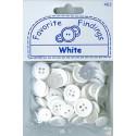 "WHITE, ""Рубашечный микс"", пуговицы 12-15мм 130шт., Favorite Findings"