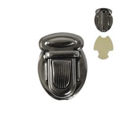 Черный никель, застежка для портфеля 25х34мм