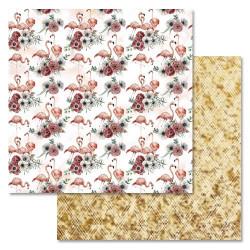 Вечное счастье, коллекция Роскошный фламинго, бумага для скрапбукинга 30,5x30,5см 180г/м ScrapMania
