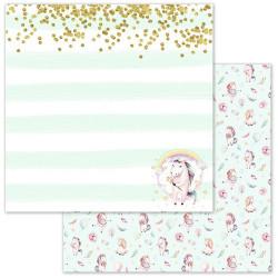 Исполняя желания, коллекция Розовые грезы, бумага для скрапбукинга 30,5x30,5см 180г/м ScrapMania