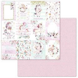 Карточки, коллекция Розовые грезы, бумага для скрапбукинга 30,5x30,5см 180г/м ScrapMania