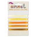 Желтый, набор атласных лент ширина 6мм, 5шт по 1м , Annet