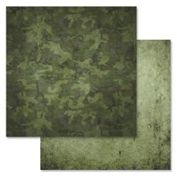 В засаде, коллекция Дембельский альбом, бумага для скрапбукинга 30,5x30,5см 180г/м ScrapMania