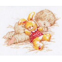 Дочурка, набор для вышивания крестиком, 25х19см, 13цветов Алиса