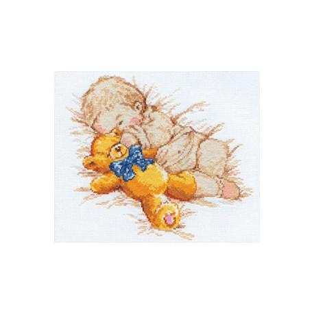 Сынишка, набор для вышивания крестиком, 25х22см, 15цветов Алиса