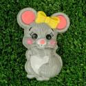 Мышка с бантиком, пластиковая форма для мыла PC