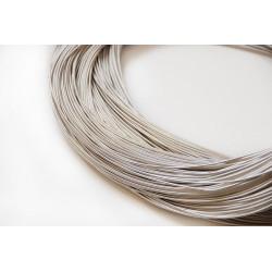 Серебро, канитель жёсткая 0,9мм 4,5-5гр