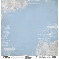 Карты мира из коллекции Путешествие во времени, лист односторонней бумаги 30х30см, 190гр/м MoNa desi