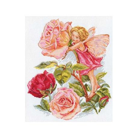 Фея розового сада, набор для вышивания крестиком, 27х33см, 25цветов Алиса