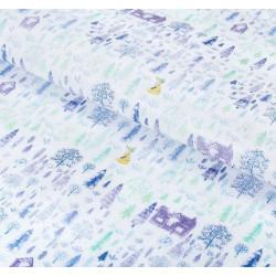 Снежный лес, упаковочная бумага тишью 50х70см 1лист