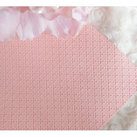 Розово-персиковый крестик, кожа искусственная 33х69(±1см) плотность 440 г/кв.м.