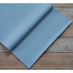 Голубой в квадратик, кожа искусственная 33х69(±1см) плотность 440 г/кв.м.