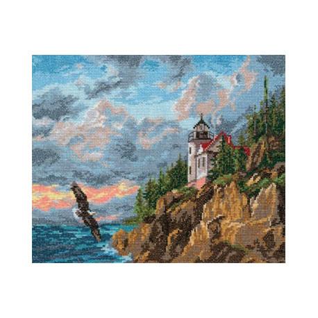 Парящий орел, набор для вышивания крестиком 32х24см 26цветов Алиса