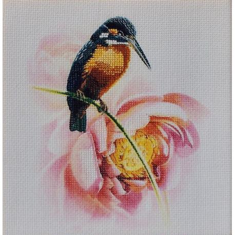 Зимородок, набор для вышивания крестом 15х19см частичная вышивка мулине Anchor Чарiвна Мить