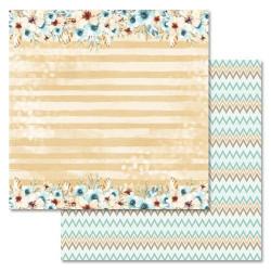 Отражение, коллекция Этника. Детская, бумага для скрапбукинга 30,5x30,5см 180г/м ScrapMania