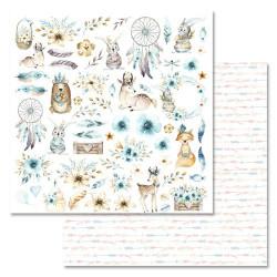 Картинки, коллекция Этника. Детская, бумага для скрапбукинга 30,5x30,5см 180г/м ScrapMania