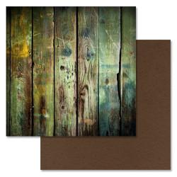 Казарма, коллекция Дембельский альбом, бумага для скрапбукинга 30,5x30,5см 180г/м ScrapMania