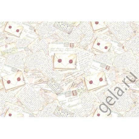 Письма, бумага рисовая для декупажа 48х33см 28г/м? Stamperia