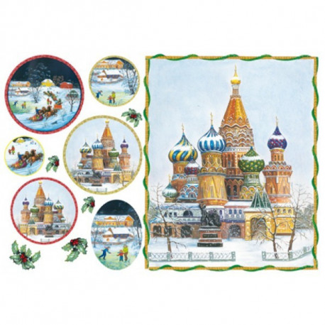 Русские ландшафты, бумага рисовая для декупажа 48х33см 28г/м? Stamperia