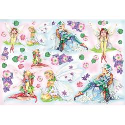 Феи и цветы, бумага рисовая для декупажа 48х33см 28г/м? Stamperia