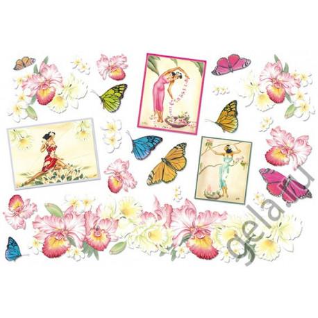 Бабочки, бумага рисовая для декупажа 48х33см 28г/м? Stamperia