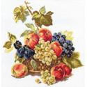 Яблоки и виноград , набор для вышивания крестиком 25х25см 23цвета Алиса