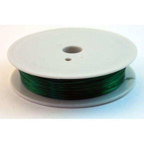 Зеленый, проволока для бисера d 0.4мм 10м, Gаmma