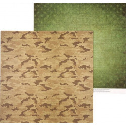 Армейская палатка, двусторонняя бумага для скрапбукинга 30,5*30,5см 180г/м АртУзор