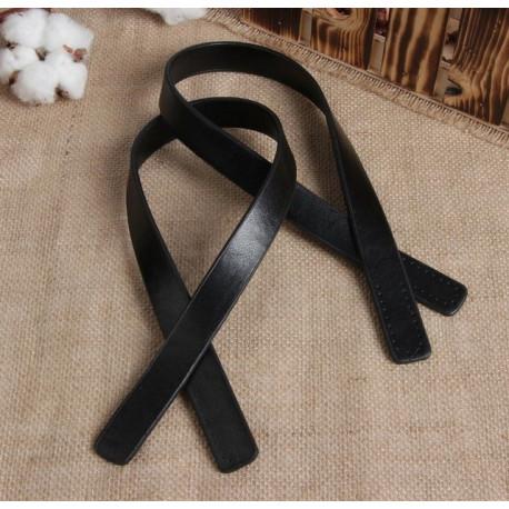Черный, ручки для сумки кожзам 54х2см 1пара SL