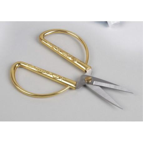 Ножницы портновские 13см лезвия 4см золотые ручки металл АУ